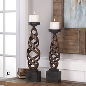 Abrose Rust Candleholders Set of 2 - LUT5153