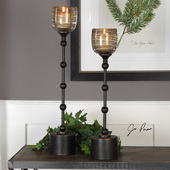 Lula Oil Rubbed Bronze Candleholders Set of 2 - LUT5243
