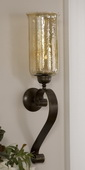 Joselyn Bronze Candle Wall Sconce  - LUT8002