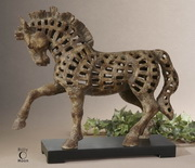 Prancing Horse Antique Sculpture  - LUT8006
