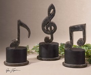 Music Notes Metal Figurines  - LUT8014