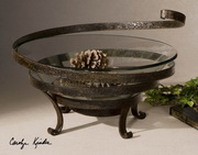 Duff Glass and Metal Decorative Bowl  - LUT8028