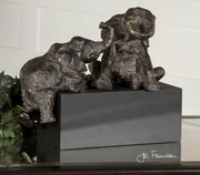 Playful Pachyderms Bronze Figurines  - LUT8043