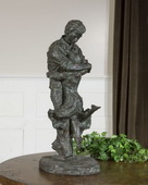 Welcome Home Oil Rubbed Bronze Figurine  - LUT8049