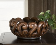 Merida Wood Tone Decorative Bowl  - LUT8050
