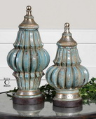 Fatima Sky Blue Decorative Urns  - LUT8062