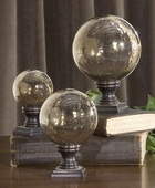 Lamya Glass Globe Finials  - LUT8070