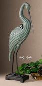 Keanu Blue-Green Heron Sculpture  - LUT8071