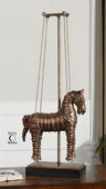 Stedman Horse Copper Bronze Sculpture  - LUT8075