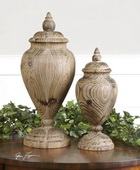 Brisco Carved Wood Finials  - LUT8081