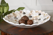 Capiz Shell Accented Bowl  - LUT8084