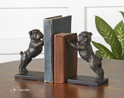 Bulldogs Cast Iron Bookends  - LUT8088