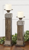 Lican Natural Wood Candleholders  - LUT8097