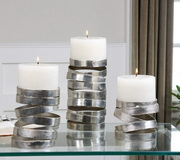 Tamaki Silver Candleholders  - LUT8180