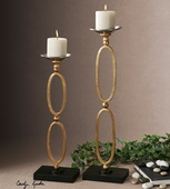 Lauria Chain Link Candleholders  - LUT8198