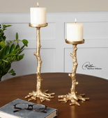 Maple Gold Candleholders S/2 - LUT1391