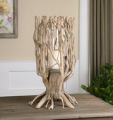 Ugo Natural Wood Candleholder - LUT1425