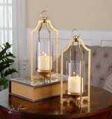 Lucy Gold Candleholders S/2 - LUT1489