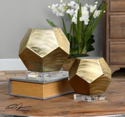 Pentagon Coffee Bronze Cubes S/2 - LUT1515