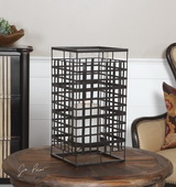 Caged In Metal Candleholder - LUT1519