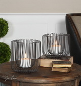 Flare Black Wire Candleholders S/2 - LUT1521