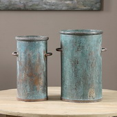 Barnum Tarnished Copper Cans S/2 - LUT1533