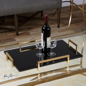 Ettore Black Glass Tray