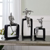 Musical Ensemble Statues Set of 3