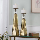 Carlino Bronze Candleholders Set of 2