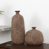 Frederico Rustic Vases Set of 2 - LUT5425