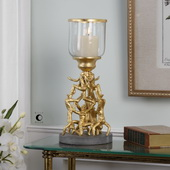 Golden Gymnasts Candleholder