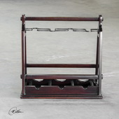 Ossana Mahogany Wine Holder - LUT5441