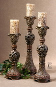 Rosina Walnut Brown Candlesticks  - LUT8256