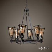 Frisco 6 Light Metal Chandelier - LUT7175