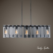 Everly 5 Light Smoke Glass Island - LUT1621