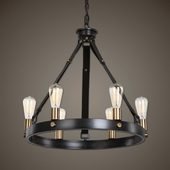 Marlow 6 Light Antique Bronze Chandelier - LUT1633