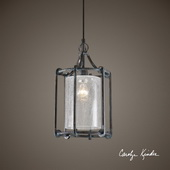 Generosa 1 Light Crackle Glass Lantern - LUT7265
