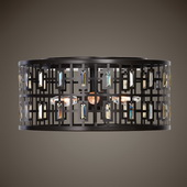 Rhombus 4 Light Bronze Flush Mount - LUT5533