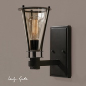 Frisco 1 Light Rustic Wall Sconce - LUT7282