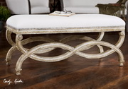 Karline Natural Linen Bench  - LUT7623