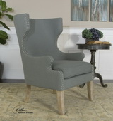 Graycie High Back Wing Chair  - LUT7656