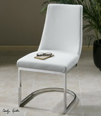 Xantina White Accent Chair  - LUT7661