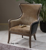 Snowden Tan Wing Chair  - LUT7678