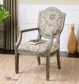 Valene Weathered Accent Chair  - LUT7690
