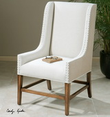 Dalma Linen Wing Chair  - LUT7704