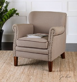 Tinsley Hounds-Tooth Club Chair - LUT1777