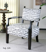 Terica Geometric Accent Chair - LUT1799