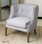 Gamila Light Gray Accent Chair - LUT1805