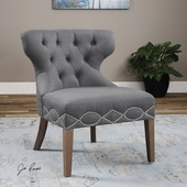 Shafira Gray Armless Chair - LUT1841