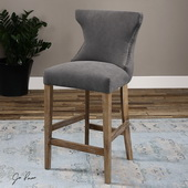Gamlin Gray Counter Stool - LUT1845